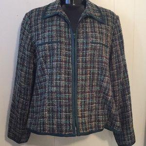 Sag Harbor Tweed Zip-Up Jacket